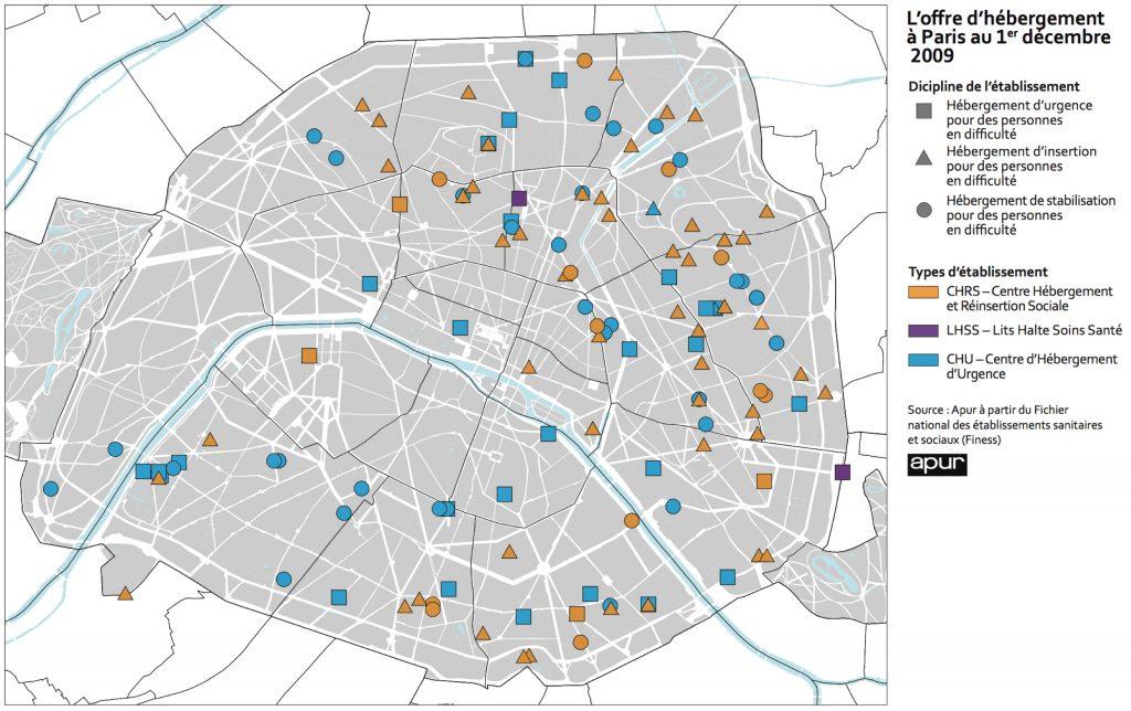 2. L'offre d'hébergement à Paris au 1er décembre 2009 (apur, 2010)