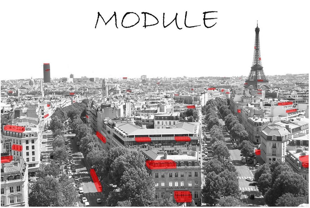 3. Projet « Module » pour le concours « Paris de l'hospitalité » (AIR Architecture, 2014)