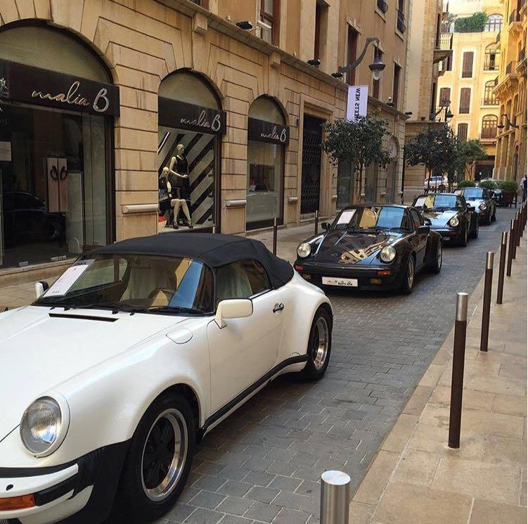 5.« Porsche's exhibition », évènement organisé au centre-ville (Hajjar, 2015)
