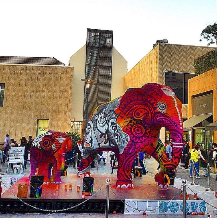 6.Le Festival « Elephant Paint » à Beirut Souks (Hajjar, 2015)