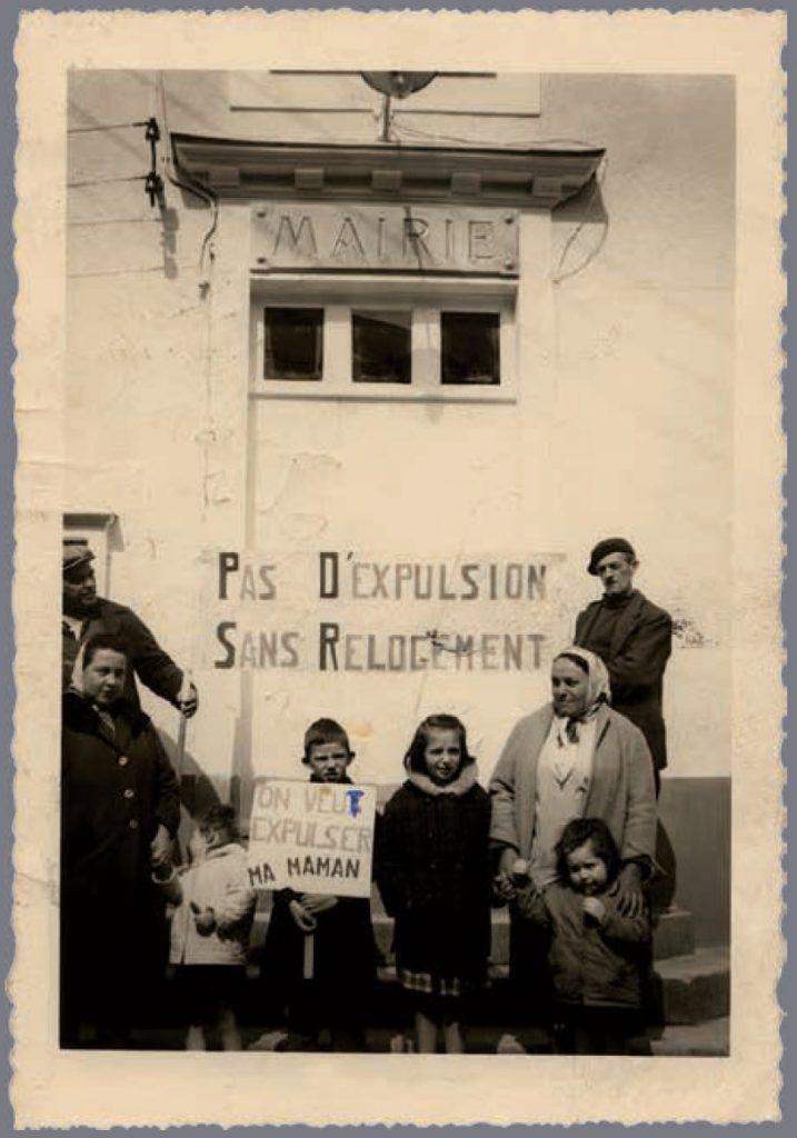 1. « On veu*t expulser ma maman ». Tirage corrigé au stylo. (Délégation à la mairie le 25 avril 1963, Fédération CNL de Loire-Atlantique)