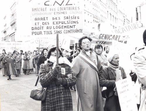 3. La délégation du Grand-Caillou, Gironde.Cortège de la CNL dans une manifestation, fin des années 1970 (Source : CNL)