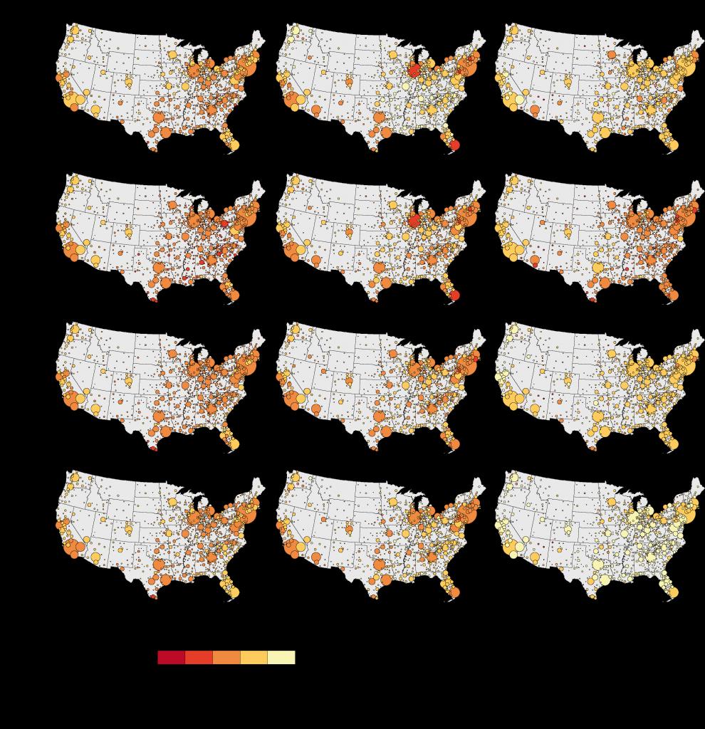 3. La ségrégation des Asiatiques, des Hispaniques et des autres appartenances ethniques dans les villes des États-Unis, 1980-2010 (Duroudier,2016).