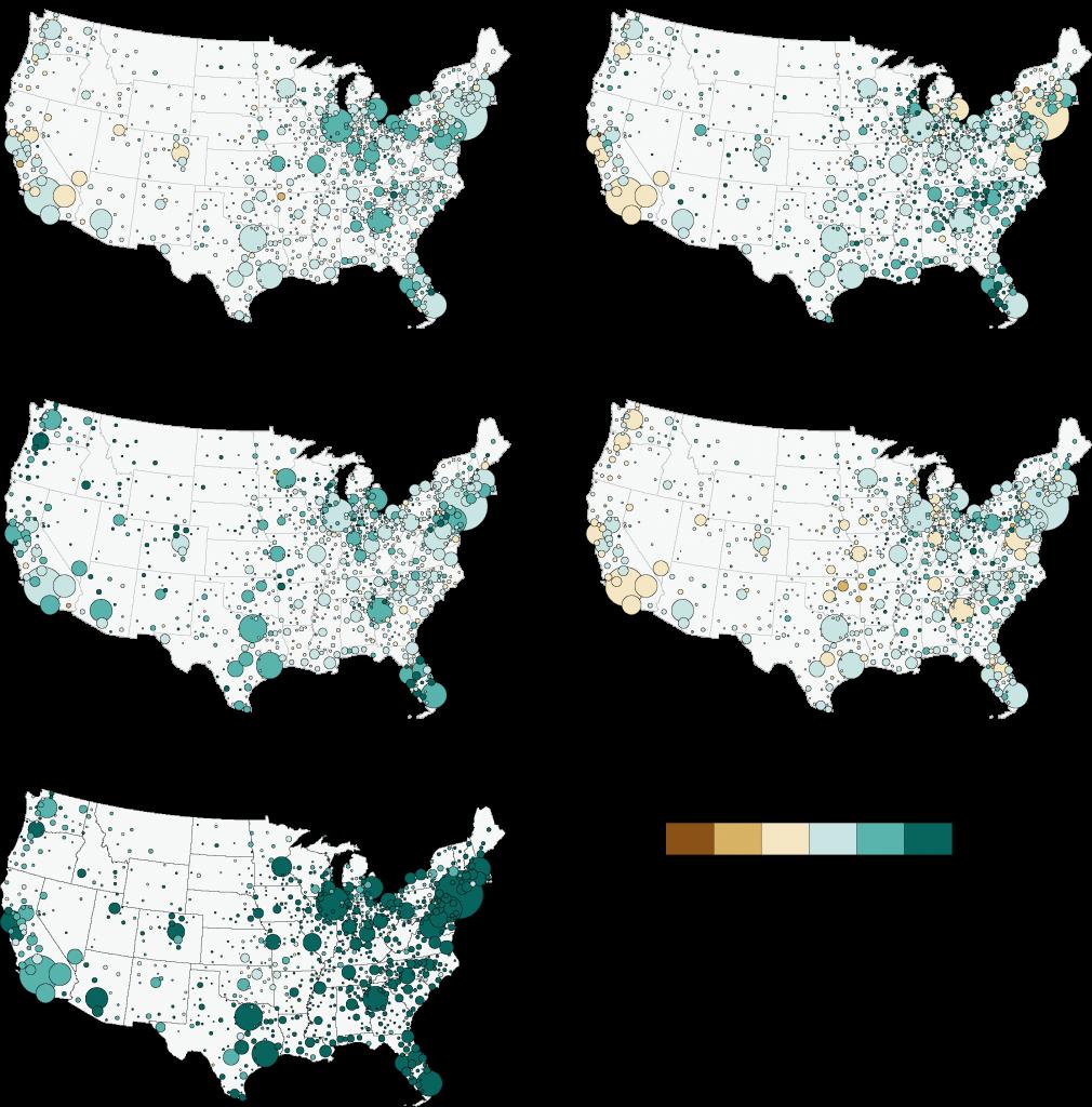 4. Les évolutions de la ségrégation entre 1990 et 2010 (Duroudier,2016).