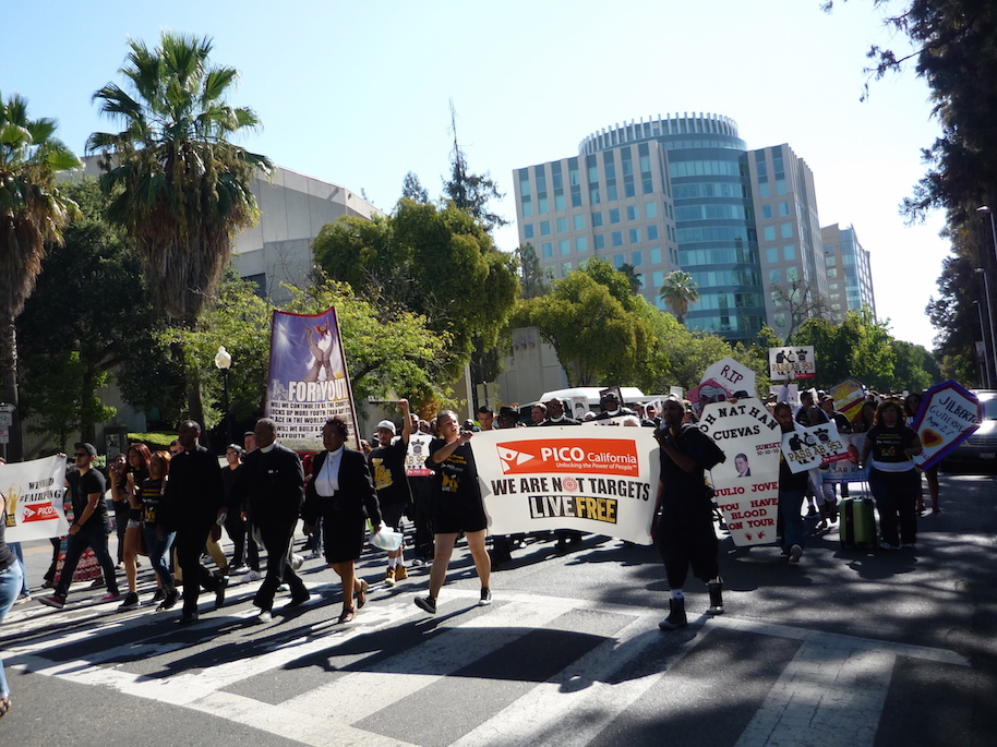 Figure 3 : Manifestation contre les violences policières à Sacramento, Californie (Talpin, 2016)