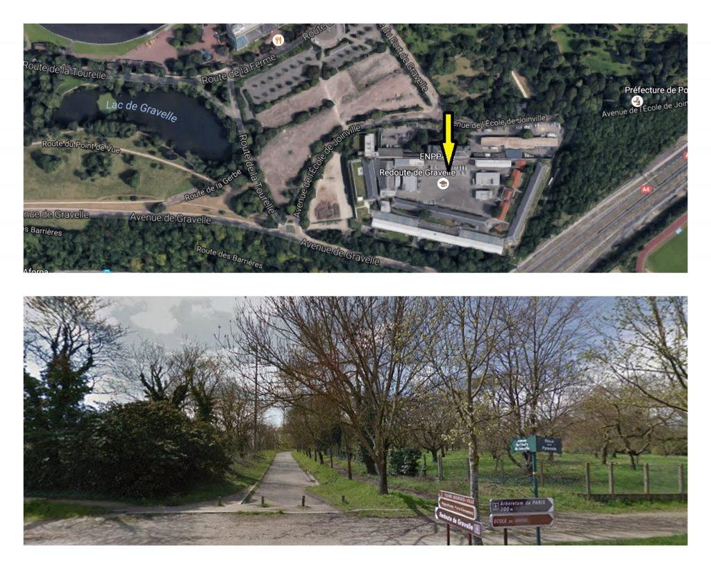 1. Localisation du CRA de Vincennes en lisière du bois. (Capture Google maps)