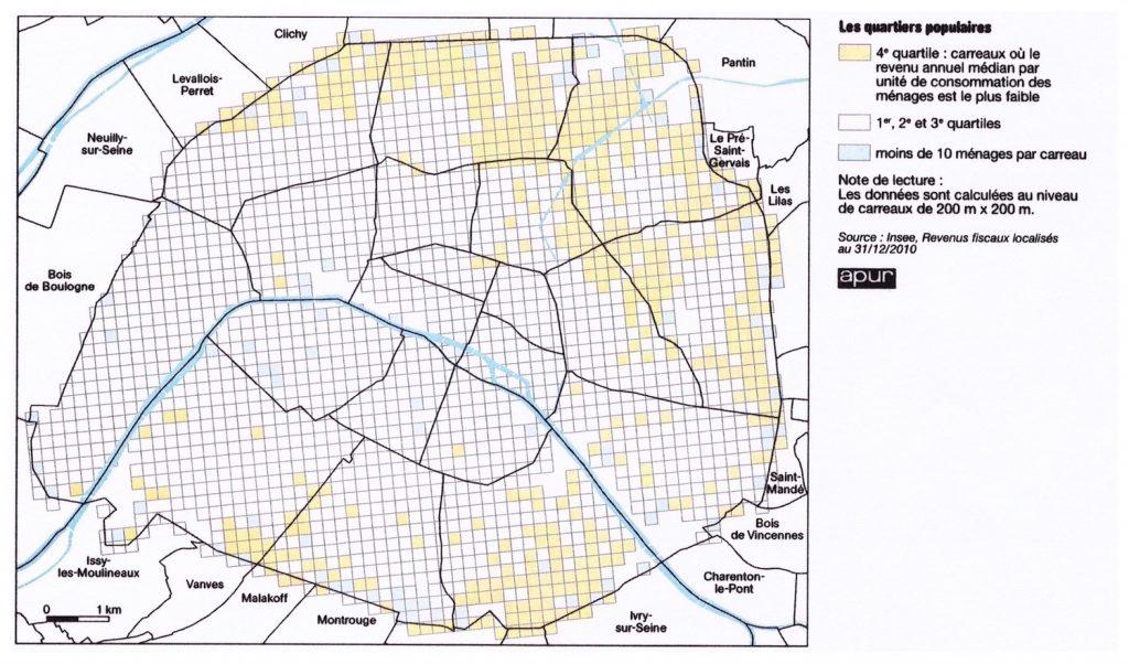 1. Les quartiers populaires à Paris au 31 décembre 2010 (Apur, 2013)