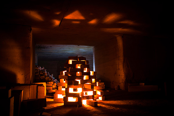 Construction avec des blocs de calcaire